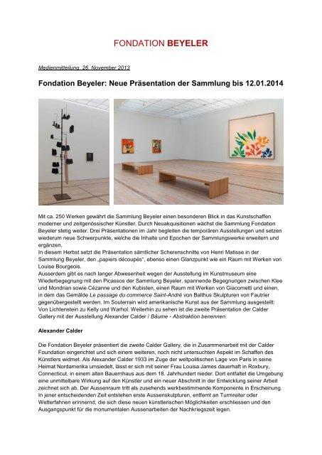 Download PDF (200 KB) - Fondation Beyeler