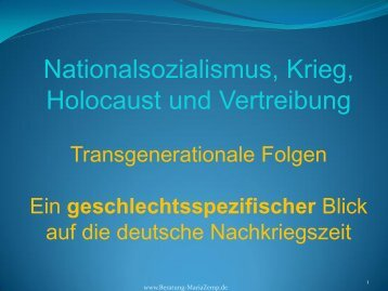 Powerpointpräsentation [pdf] - Maria Zemp