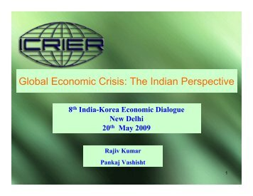 Global Economic Crisis: The Indian Perspective - icrier