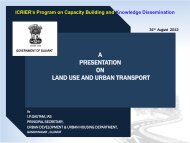 A PRESENTATION ON LAND USE AND URBAN TRANSPORT - icrier