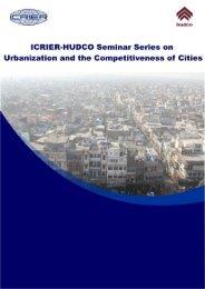ICRIER-HUDCO Seminar Summary