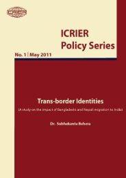 Trans-border Identity: Discoursing Implications for India - icrier