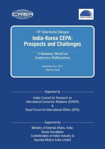 Download Summary for Indo-Korea Seminar - icrier