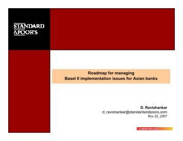 Roadmap for managing Basel II implementation issues for ... - icrier