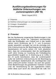 Ausführungsbestimmungen für ärztliche Untersuchungen ... - SBFV