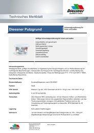Technisches Merkblatt - Diessner