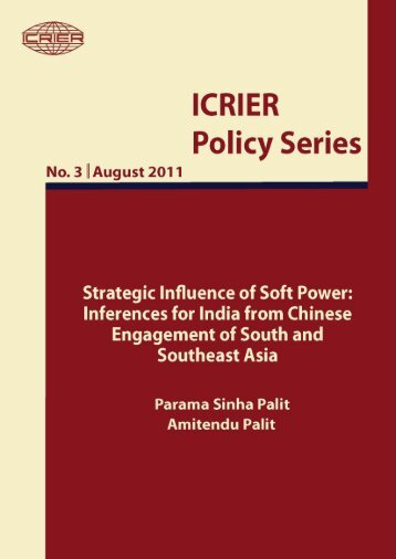Strategic Influence of Soft Power: Inferences for India from ... - icrier