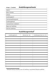 Empfehlung für das Führen von Ausbildungsnachweisen