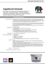 Technische Information Nr. 657 - Caparol