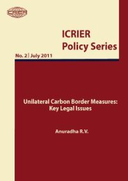 Unilateral Carbon Border Measures: Key Legal Issues - icrier