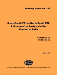 South-South FDI vs North-South FDI: A Comparative Analysis ... - icrier