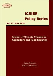Impact of Climate Change on Agriculture and Food Security - icrier