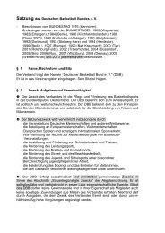 Satzung des Deutschen Basketball Bundes e. V. - Deutscher ...