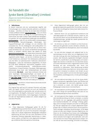 Allgemeine Geschäftsbedingungen [PDF] - Jyske Bank