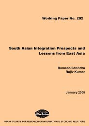 South Asian Integration Prospects and Lessons from East Asia - icrier