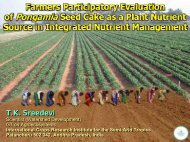Farmers Participatory Evaluation of Pongamia Seed cake as ... - icrisat