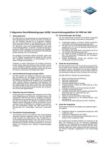 // Allgemeine Geschäftsbedingungen (AGB ...