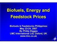 Biofuels, Energy and Feedstock Prices - Icrisat