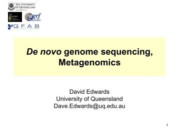 Approaches to the assembly of complex plant genomes and ... - icrisat
