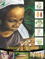 Research for Impact - Annual Report 2002 - icrisat