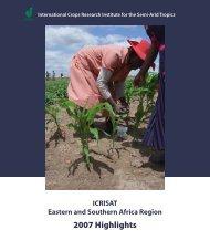 ESA Annual Report 2007.pdf - Icrisat