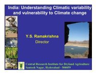 India: Understanding Climatic variability and vulnerability to ... - icrisat