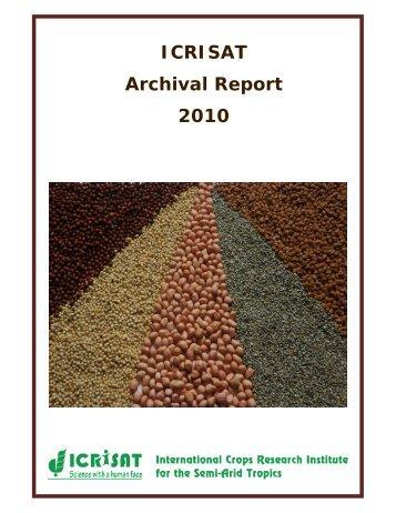 ICRISAT Archival Report 2010