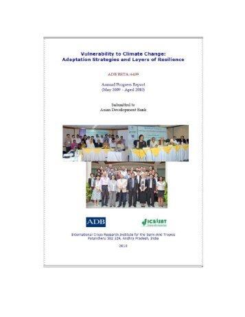 Annual Progress Report - Icrisat