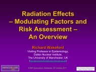 Radiation Effects – Modulating Factors and Risk Assessment ... - ICRP