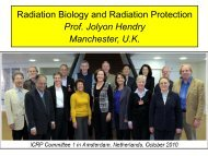 Radiobiology Biology and Radiation Protection - ICRP