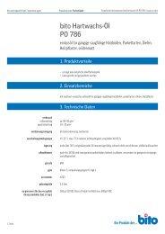 Technisches Datenblatt PO 786 - Bito AG