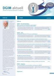 DGIM Newsletter - Deutsche Gesellschaft für Innere Medizin (DGIM)