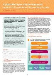 A global HIV stigma reduction framework adapted and ... - ICRW