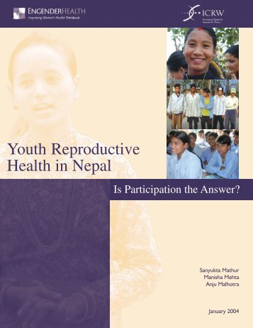 Youth Reproductive Health in Nepal: Is Participation the ... - ICRW