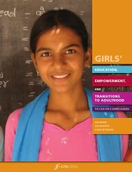 Girls' Education, Empowerment, and Transitions to Adulthood