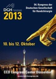 10. bis 12. Oktober CCD Congress Center Düsseldorf - DGH