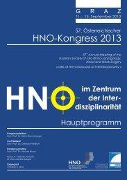 Hauptprogramm - Österreichische Gesellschaft für Hals-, Nasen