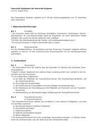 Feuerwehr-Reglement der Gemeinde Galgenen