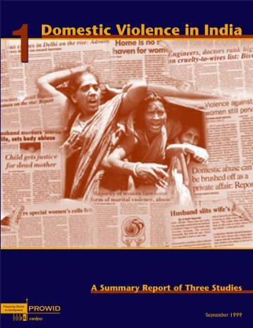 Domestic Violence in India 1: a Summary Report of Three ... - ICRW