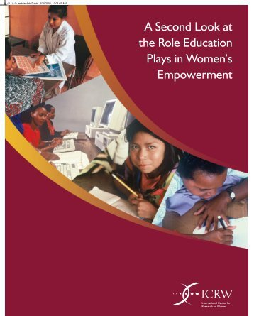 A Second Look at the Role Education Plays in Women's ... - ICRW