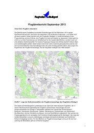 Fluglärmbericht September 2013 - Stuttgart