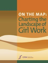 On the Map: Charting the Landscape of Girl Work - ICRW