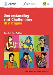 Understanding and Challenging HIV Stigma: Toolkit ... - hivpolicy.org