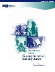 Female Genital Cutting: Breaking the Silence, Enabling ... - ICRW