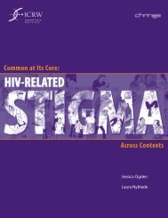 Common at its Core: HIV-Related Stigma Across Contexts - ICRW