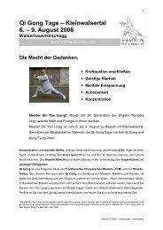Kleinwalsertal Qi-Gong Tage