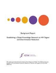 Establishing a Global Knowledge Network on HIV Stigma ... - ICRW
