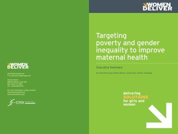 Targeting Poverty and Gender Inequality to Improve ... - ICRW