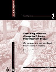 Community and Women-Based Interventions in Thailand - ICRW