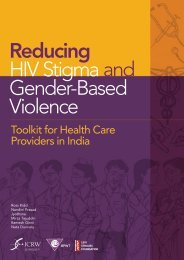 Reducing HIV Stigma and Gender Based Violence Toolkit ... - ICRW